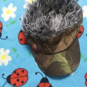 3 FOR $10 MENS CAMO FAKE HAIR HAT